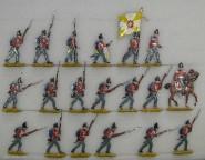 Kieler Zinnfiguren: Infanterie im Angriff, 1813 bis 1815