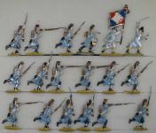 Kieler Zinnfiguren: Gardegrenadiere im Sturm, 1810 bis 1813