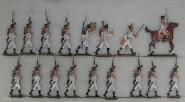 Kieler Zinnfiguren: Voltigeure vorgehend, 1811 bis 1815