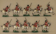 Kieler Zinnfiguren: Scots Greys im Angriff, 1813 bis 1815