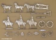 Diverse Hersteller: Geschützzug im Halt, 1812 bis 1815