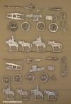 Diverse Hersteller: Zwei Geschützzüge der Kosaken im Halt, 1800 bis 1815