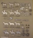 Diverse Hersteller: Zwei Geschützzüge im Halt, 1800 bis 1815