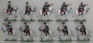 Kieler Zinnfiguren: Leibhusaren im Feuergefecht, 1870 bis 1871