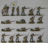 Kieler Zinnfiguren: Jäger im Feuergefecht, 1870 bis 1871