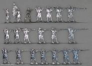 Kieler Zinnfiguren: Linieninfanterie im Feuer, 1870 bis 1871