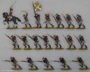 Kieler Zinnfiguren: Infanterie im Sturm, 1870 bis 1871