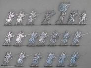Kieler Zinnfiguren: Linieninfanterie im Angrff, 1870 bis 1871