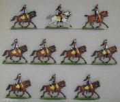 Kieler Zinnfiguren: Kürassiere im Trab, 1870 bis 1871