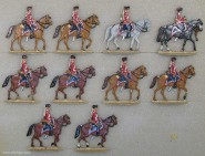 Kieler Zinnfiguren: Husaren auf dem Marsch, 1870 bis 1871