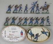 Verschiedene Hersteller: Infanterie vorgehend, 1870 bis 1871