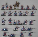 Verschiedene Hersteller: Infanterie im Feuer, 1870 bis 1871