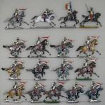 Kieler Zinnfiguren: Lanciers im Angriff, 1870 bis 1871