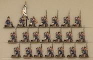 Kieler Zinnfiguren: Infanterie in Reserve kniend, 1870 bis 1871