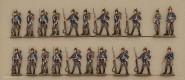 Kieler Zinnfiguren: Infanterie in Reserve stehend, 1870 bis 1871