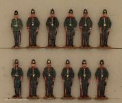 Diverse Hersteller: Jäger frontal stehend, 1870 bis 1914
