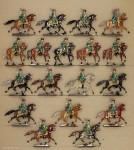 Kieler Zinnfiguren: Husaren plänkelnd, 1870 bis 1871