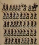 Frauendorf: Füsiliere auf dem Vormarsch, 1870 bis 1871