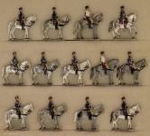 Hafer: Trainabteilung zu Pferd im Halt, 1870 bis 1871