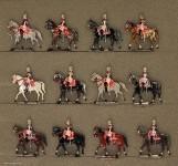 Kieler Zinnfiguren: Garde du Corps in Parade, 1870 bis 1871