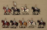 Kieler Zinnfiguren: Kürassiere Schritt reitend, 1870 bis 1871