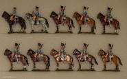 Kieler Zinnfiguren: Husaren im Halt, 1870 bis 1871