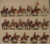 Kieler Zinnfiguren: Zieten-Husaren Schritt reitend, 1870 bis 1871