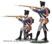 Schildkröt: Gießform: Zwei Musketiere, 1789 bis 1815