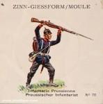SCAD: Gießform: Preußischer Infanterist, 1870 bis 1871