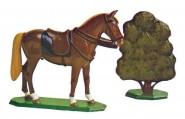 Schildkröt: Gießform: Pferd, gesattelt im Halt, 1871 bis 1918