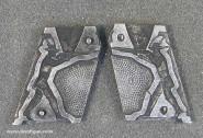 Schneider/Leipzig: Aluminiumform: Cowboy, Trapper, schießend, 19. Jh.