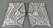 Aluminiumform: Indianer, anschleichend, 19. Jh.