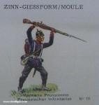 SCAD: Gießform: Infanterist, kämpfend, 1870 bis 1871