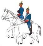 Schildkröt: Gießform: 2 Aufsitzer (Reiter) Offiziere, 1871 bis 1918