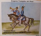 Airfix: Gießformen: Dragoner-Trompeter, Reiter, 1871 bis 1913
