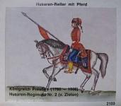 Airfix: Gießformen: Husar zu Pferd, 18. Jh. bis 20. Jh.