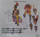 Airfix: Gießform: Reiter mit diversen Austauschköpfen, 1871 bis 1913