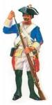 Prince August: Gießform: Musketier mit Ladestock im Gefecht, 1756 bis 1763