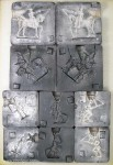 Prince August: Fünf Gießformen: Soldaten des 18. Jahrhunderts (Konvolut), 1712 bis 1786
