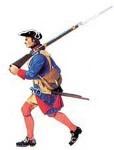 Prince August: Gießform: Musketier im Marsch, 1712 bis 1786