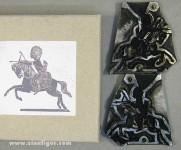 Schneider/Leipzig: Original Gießform: Indianer zu Pferd, 19. Jh.