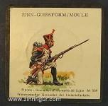 SCAD: Gummi-Gießform: Grenadier der Linieninfanterie 1812, 1789 bis 1815