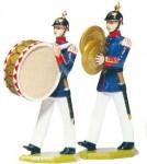 Schildkröt: Gießform: 2 Infanteriemusiker im Marsch, 1871 bis 1918