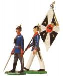 Schildkröt: Gießform: Offizier (halt) und Fähnrich (Marsch), 1871 bis 1918
