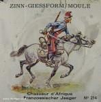 SCAD: Gießform: Chasseur d´Afrique (Afrikanischer Jäger) im Angriff, 1870 bis 1871
