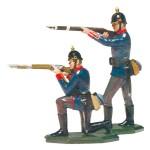 Schildkröt: Infanterie, Mann kniend und Mann stehend schießend, 1871 bis 1918