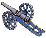 Prince August: Gießform: Kanone/Geschütz, 1712 bis 1786