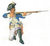 Prince August: Gießform: Musketier, kniend schießend, 1712 bis 1786