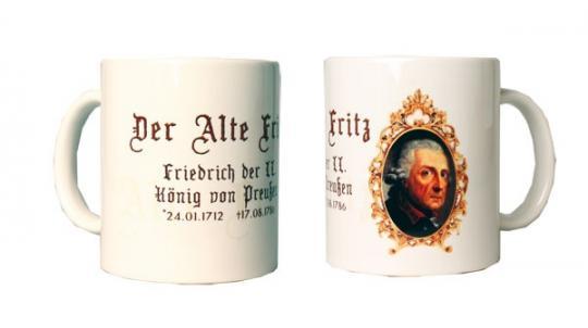 Tasse mit dem Porträt König Friedrich des Großen