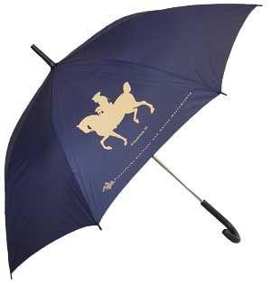 Blauer Schirm mit Motiv Friedrich II.